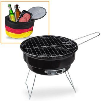 Holzkohlegrill / Grill mit Kühltasche Deutschland 2 in 1 – Bild $_i