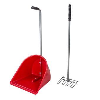 Mistboy / XL Mistschaufel rot Iffezheim mit Mistkratzer – Bild $_i