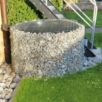 bellissa Wasserfass Ø 130 cm H 80 cm + Teichfolie Zink Aluminium Regenfass – Bild $_i