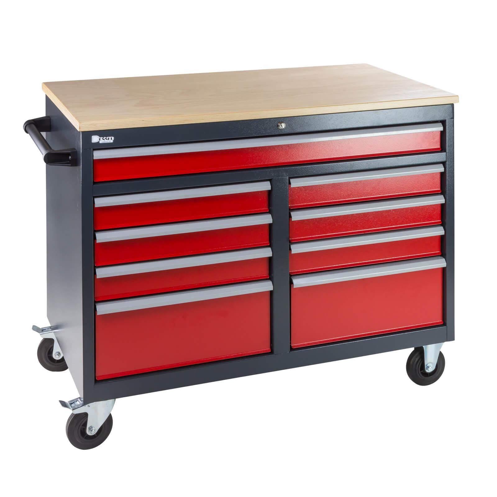 mobile werkbank werktisch werkzeugwagen rollwagen leer. Black Bedroom Furniture Sets. Home Design Ideas