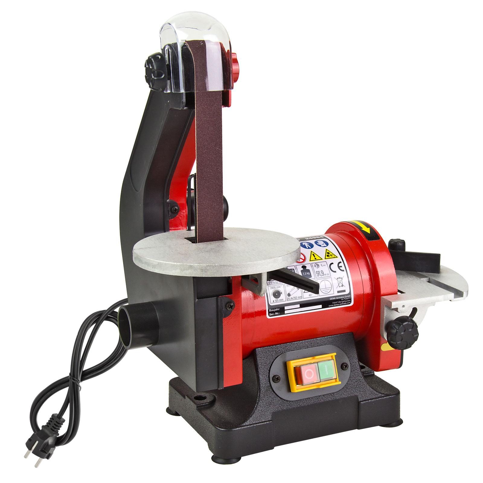 Dema Bandschleifer Tellerschleifer DBTS750 Bandschleifmaschine Kombi-Schleifmaschine 24964