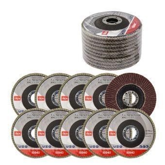 Fächerscheiben / Schleifscheiben 10er Set Ø 115 125 mm K40 - 120 – Bild $_i