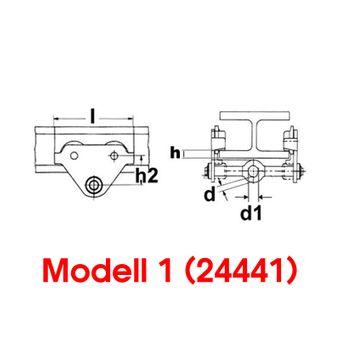 Laufkatze / Rollfahrwerk 0.5, 1.0, 2.0 to – Bild $_i