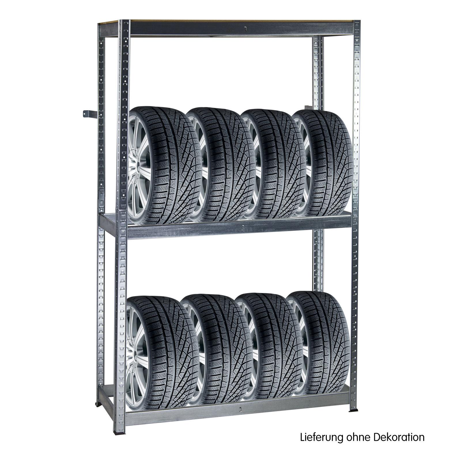 Dema Metall Reifen-Regal 180x120x40 cm Steckregal 8 Reifen 17952