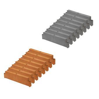 Juwel Hochbeet Profiline Erweiterungs-Set 8 Bausteine (Terracotta / Basalt)