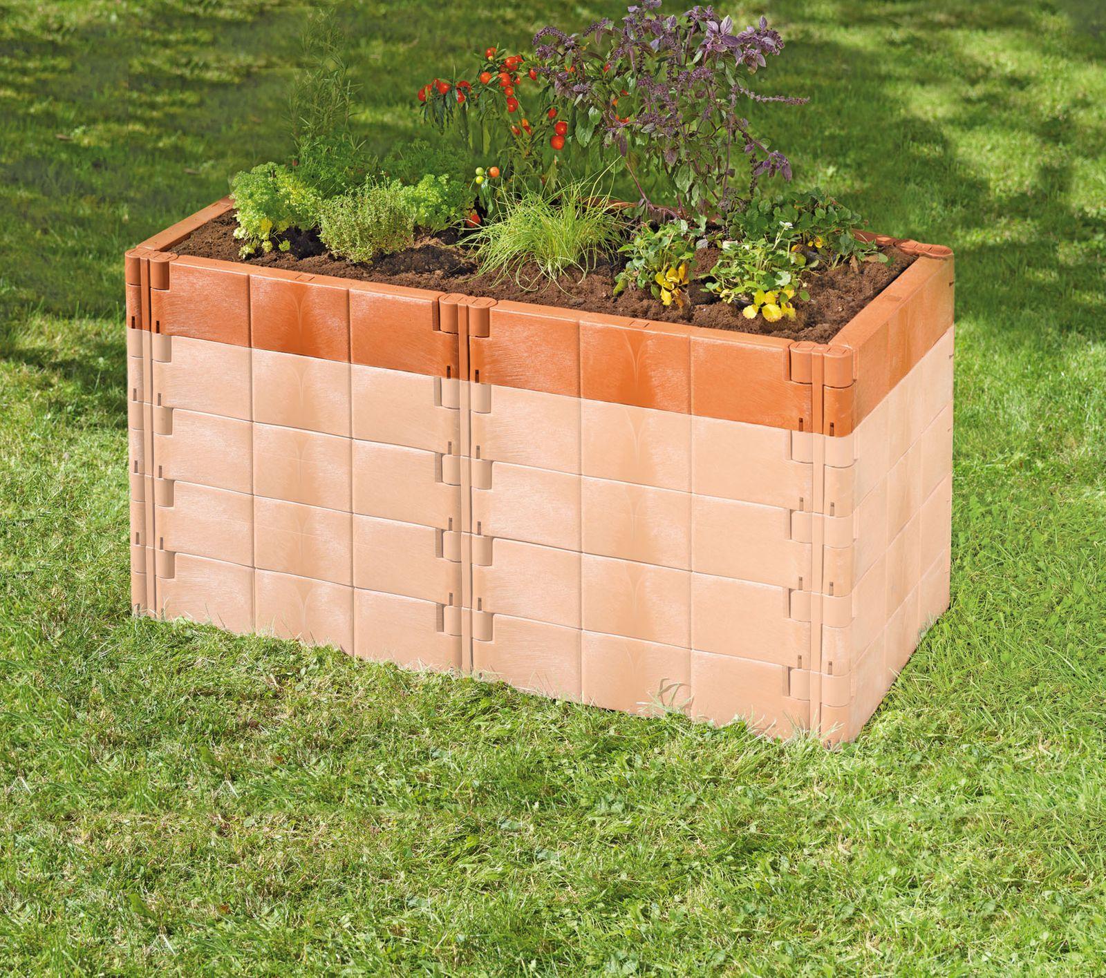Juwel Hochbeet Profiline Aufbausatz für Basis-Set Terracotta oder Basaltgrau 20296