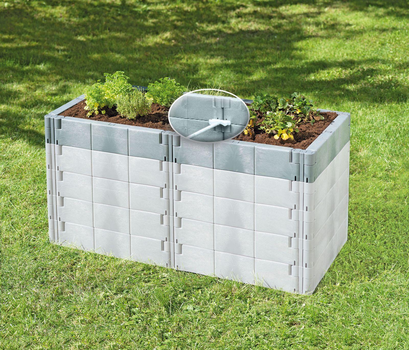 Juwel Hochbeet Profiline Aufbausatz für Basis-Set Terracotta oder Basaltgrau 20596
