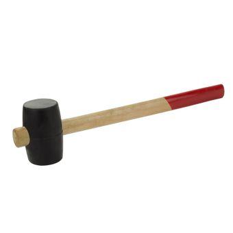 Gummihammer / Hammer mit Holzstiel Ø 55, 65, 90 mm schwarz – Bild $_i