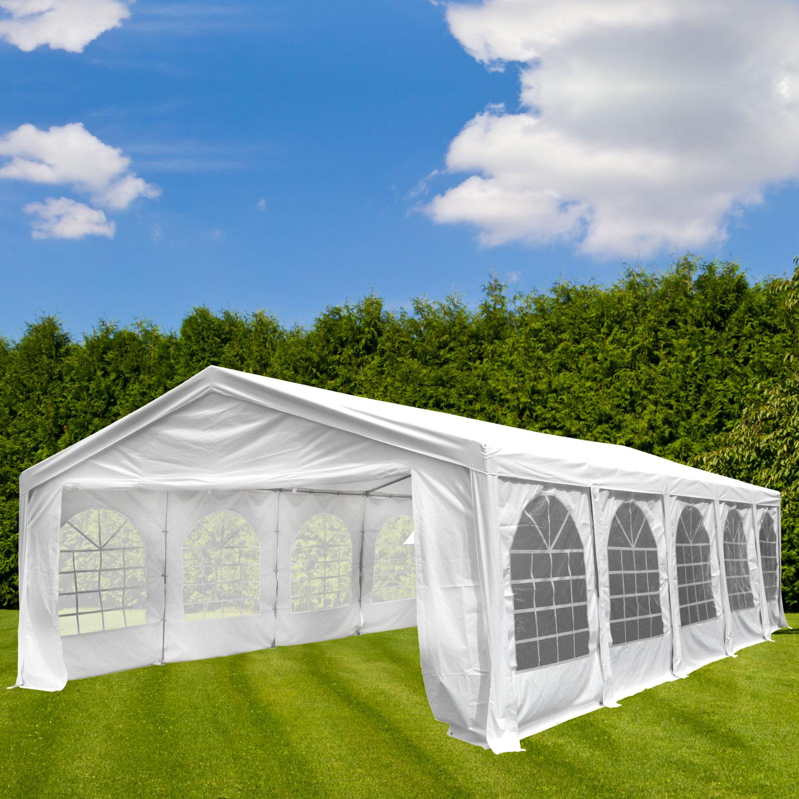 Dema Partyzelt Festzelt Gartenzelt Pavillon Las Vegas Gartenpavillon weiß 5x10 m 14277