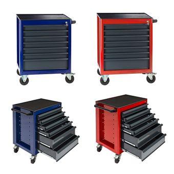 Werkstattwagen Rot / Blau 6 oder 7 Schubladen Fernando – Bild $_i