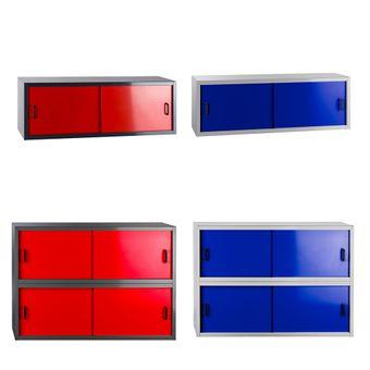 Hängeschrank Rot / Blau 2 oder 4 Schiebetüren Fernando – Bild $_i