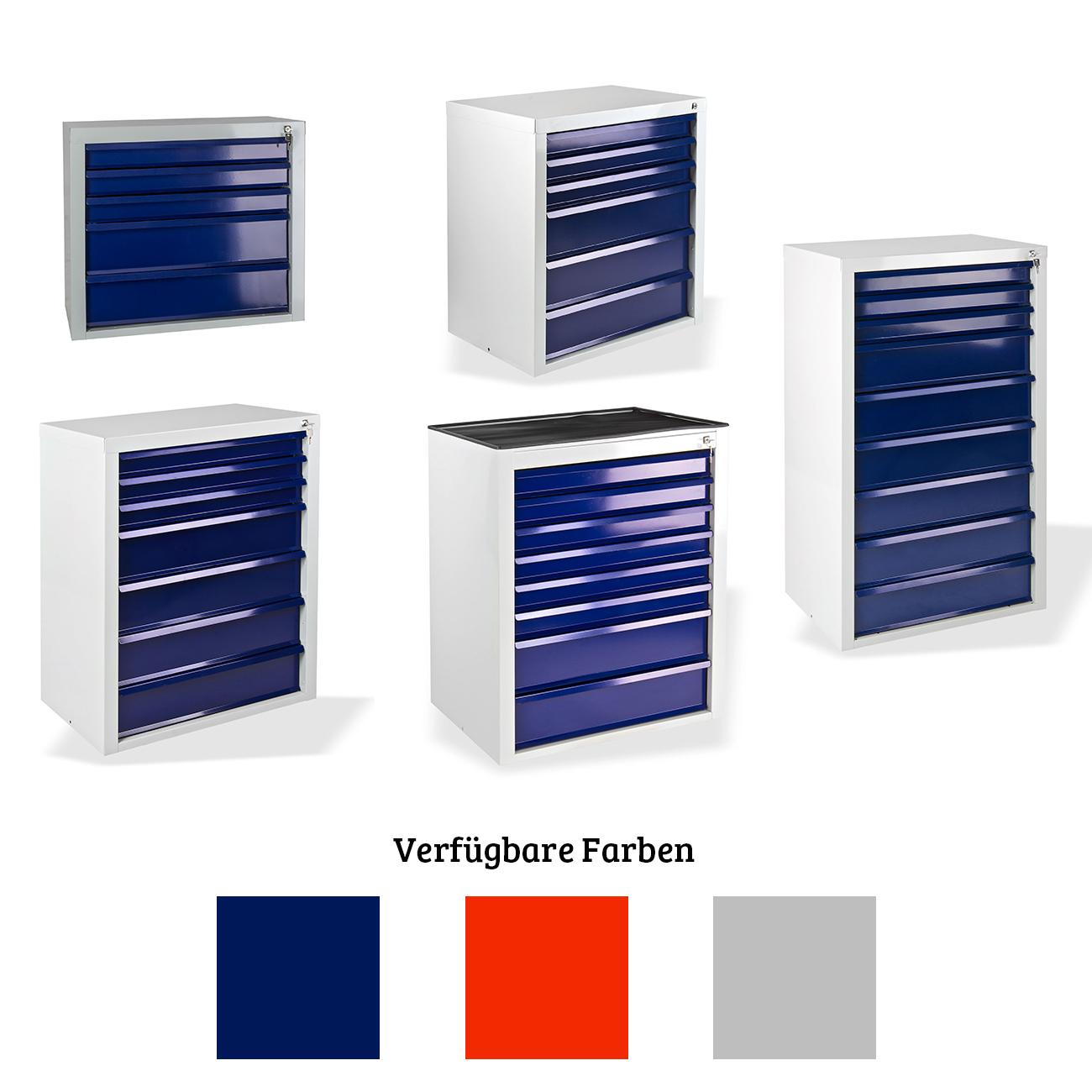 blau Werkzeugschrank mit 7 Schubladen Schubladenschrank Werkstattschrank NEU