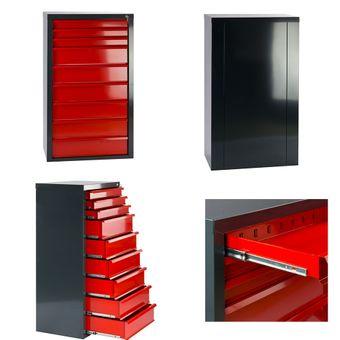 Schubladenschrank Rot / Blau / Grau 5, 6, 7, 8, 9 Schubladen Fernando – Bild $_i