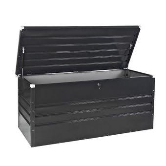 DEMA Metall Gerätebox / Auflagenbox Stockholm Box Metall Garten Geräte Auflagen Stauraum Freizeit Maschinen Rasenmäher Aufbewahrung