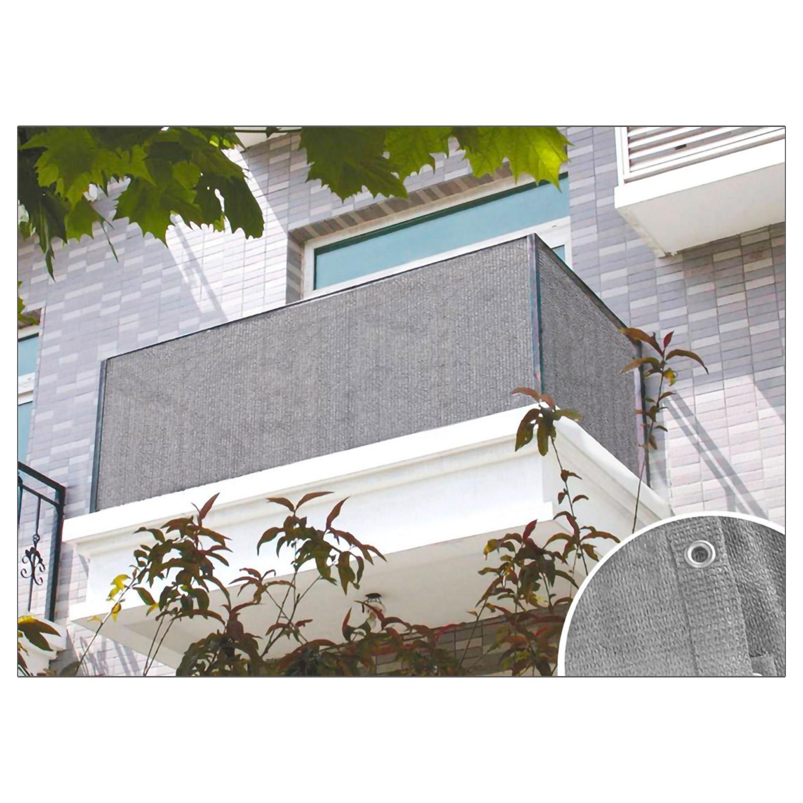 Balkon Sichtschutz Anthrazit Oder Grau 6x0 9 M