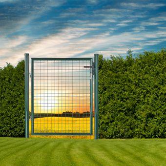 Gartentüre 100x100/120/160 cm Moosgrün – Bild $_i