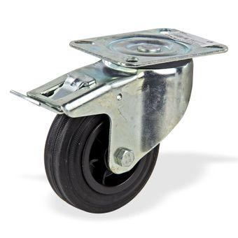 Lenkrolle mit Bremse und Kunststofffelge 100 mm – Bild $_i