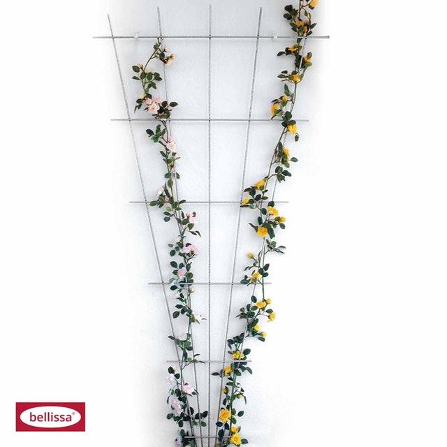 bellissa Rosenspalier Fächer zink-rip 120 x 60 cm Spalier Gitter Rank Hilfe Zaun 92313