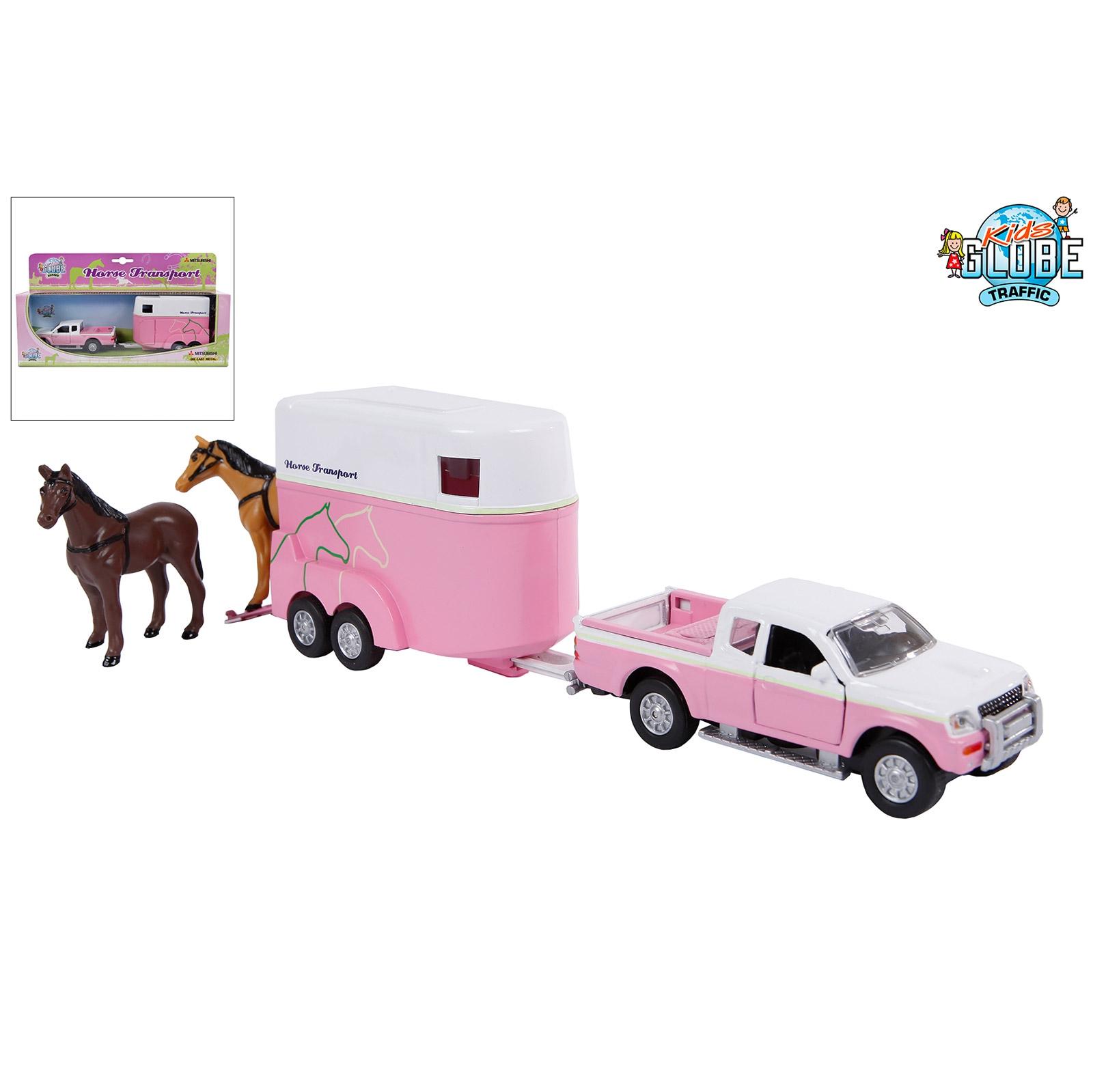 Van Manen Die Cast Mitsubishi L200 mit Pferdeanhänger Spielzeugauto 12436