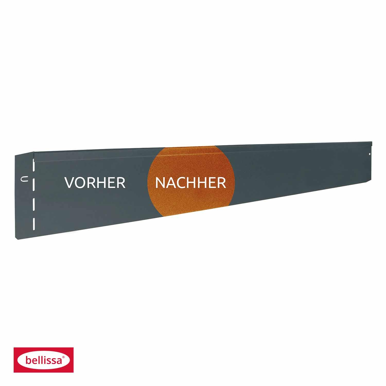 bellissa Rasenkanten Corten Stahl - Länge / Breite nach Auswahl 91012