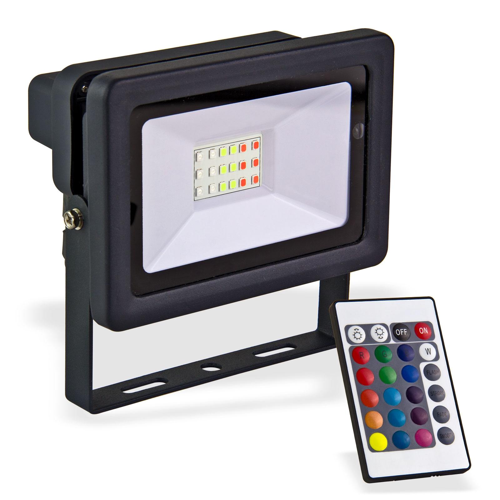 Dema LED-Strahler bunt 20 W Strahler Bunt Baustrahler Flutlicht LED 90066