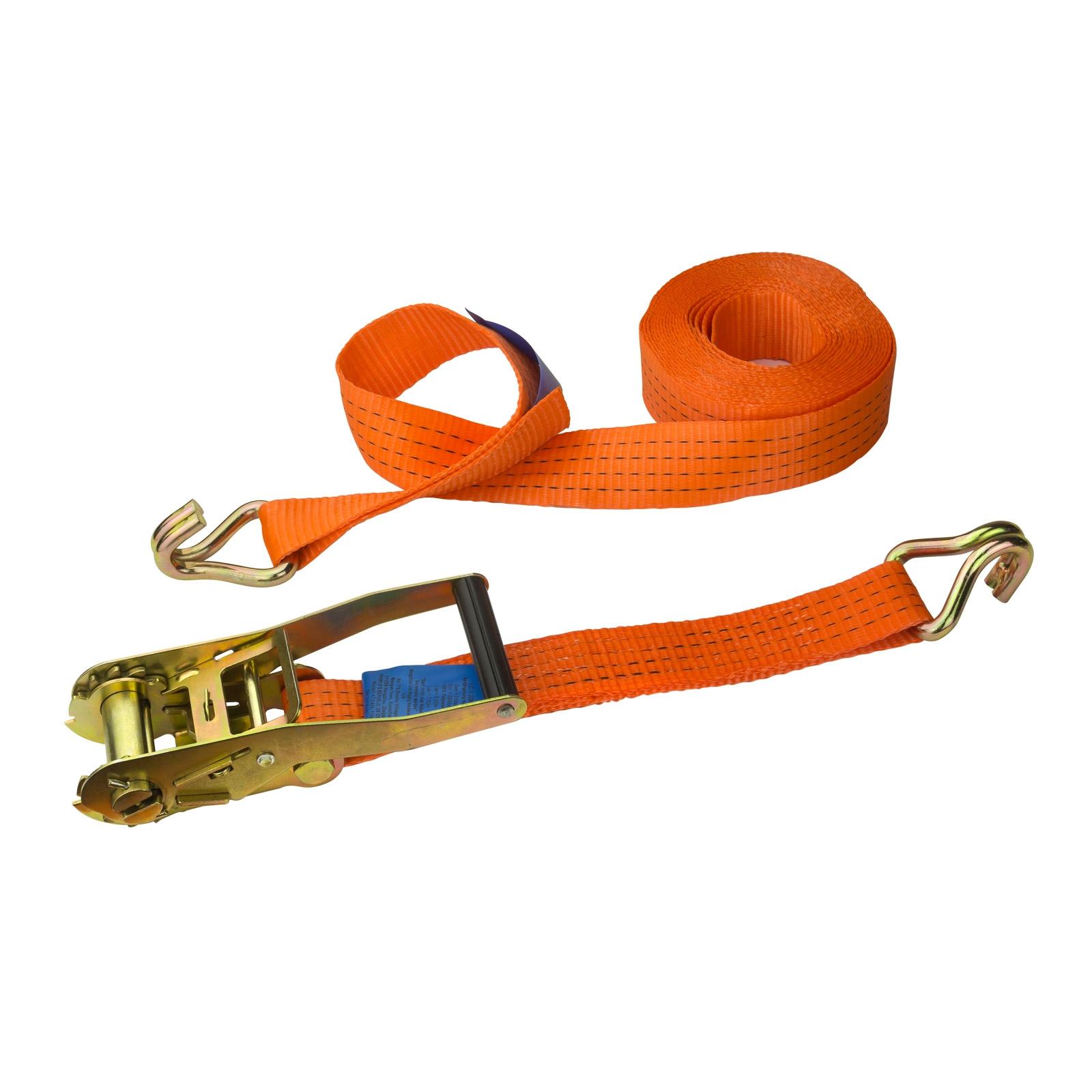 Dema PKW Anhänger Zurrgurt Spanngurt orange 8m x 50mm 4t 22675