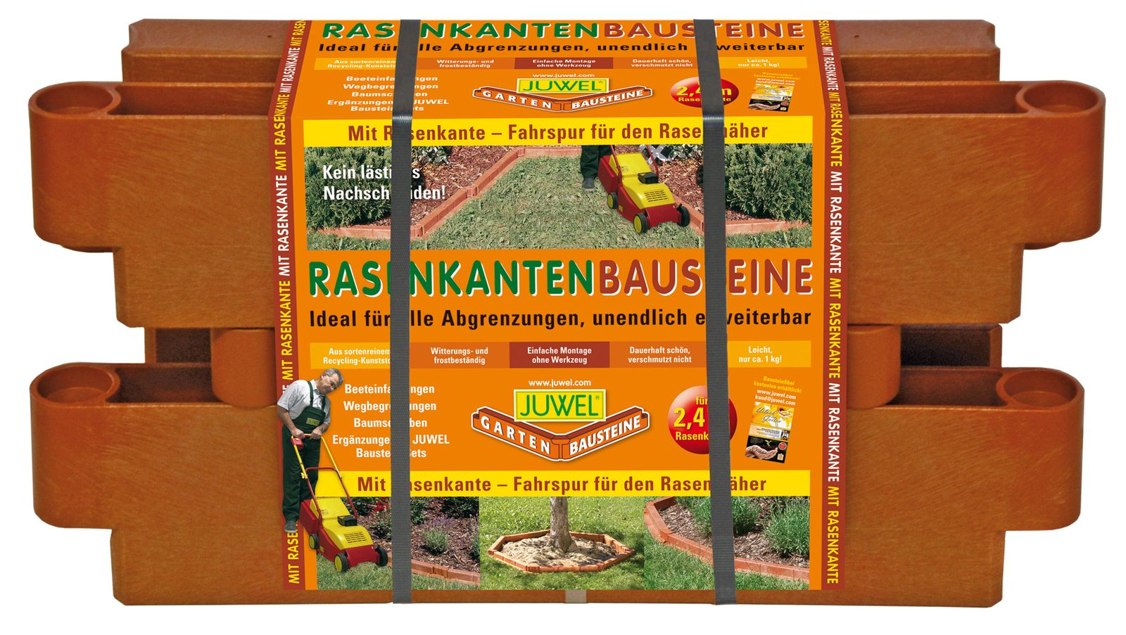 Juwel Bausteine 4 Stk Beeteinfassung Beetumrandung 20302