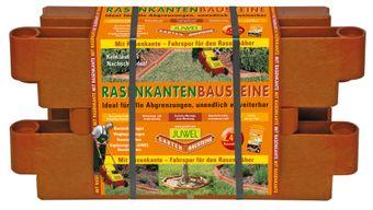 Juwel Bausteine 4 Stk Beeteinfassung Beetumrandung Rasenkantensteine Mähkante – Bild $_i