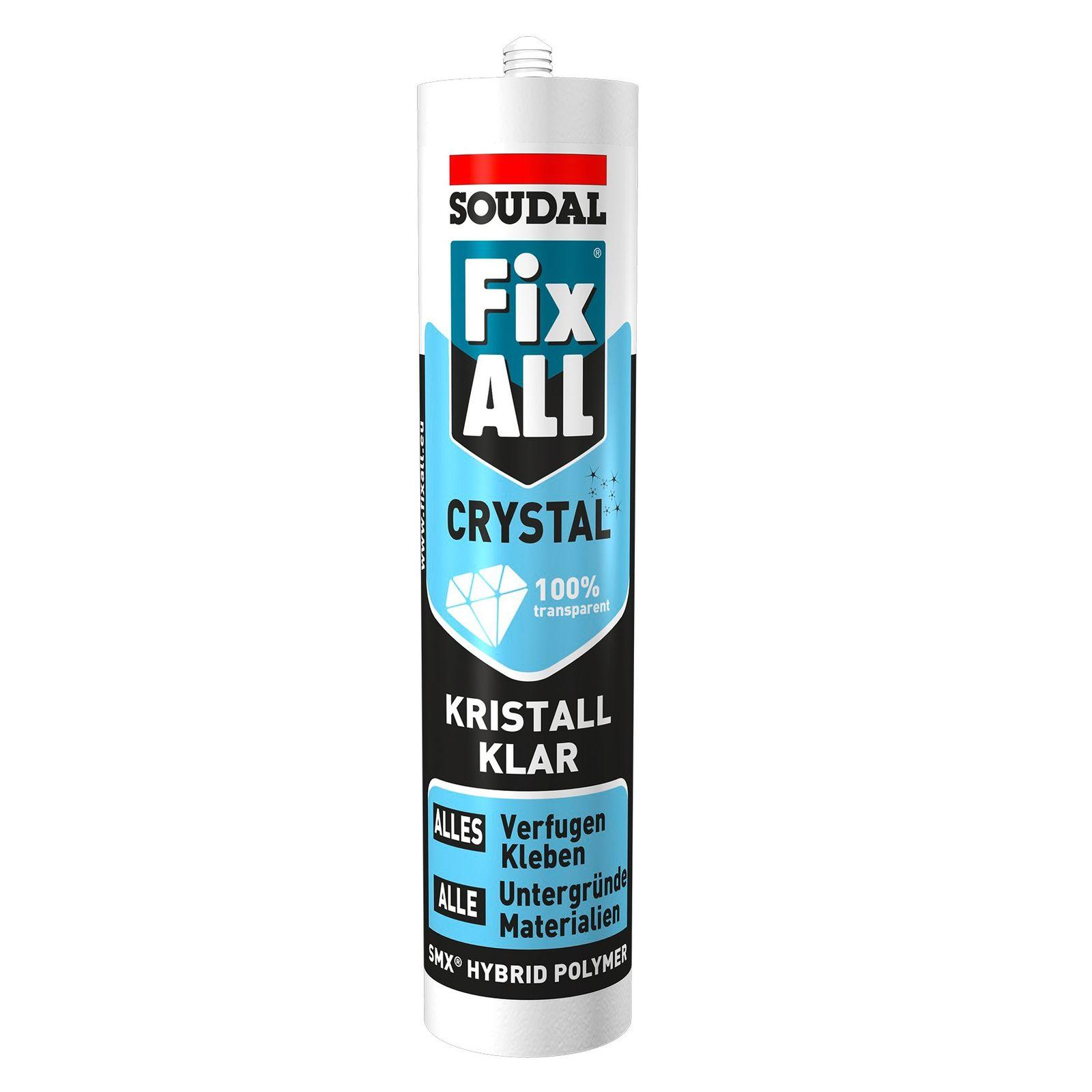 Befestigungstechnik Soudal Fix All Crystal kristallklar 290ml Dichtstoff Kleber Klebstoff Universal 770159