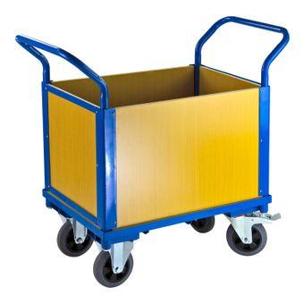 Transportwagen 1 Boden und 4 Holzwänden – Bild $_i
