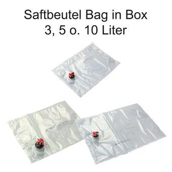 Bag in Box Saftbeutel für Apfelsaft Saftkarton 3 / 5 / 10 Liter Füllmenge – Bild $_i