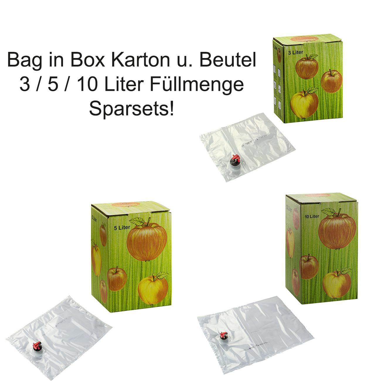 1,30€//1Stk 10 Stück 5 Liter Bag in Box Karton in bourdeaux