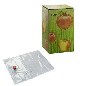 Bag in Box Saftkarton mit Saftbeutel für Saftabfüllung Set 3 / 5 / 10 Liter Füllmenge – Bild $_i