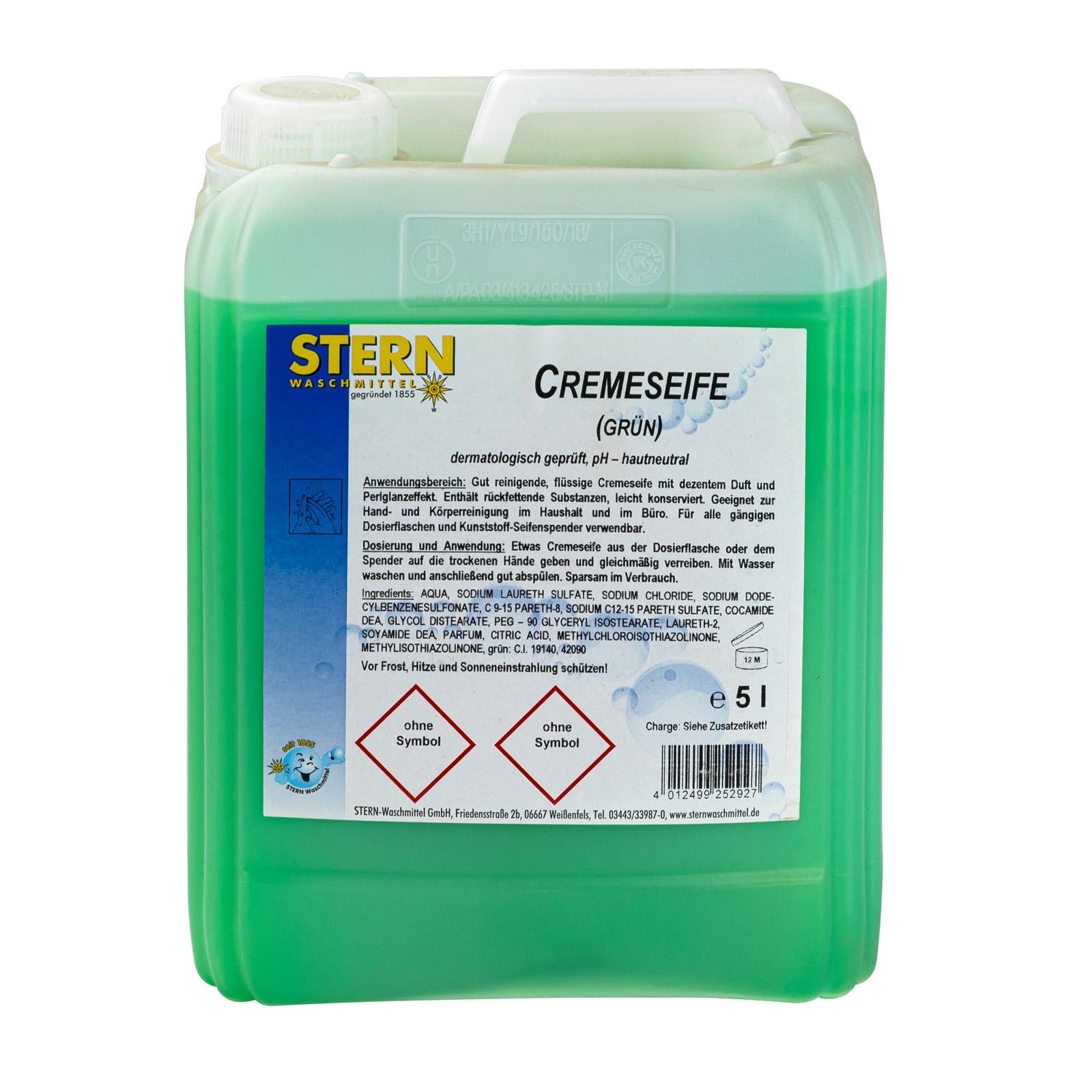 Dema Stabilo Cremeseife 5 Liter Kanister (Grün) Handseife Handreinigung 21087