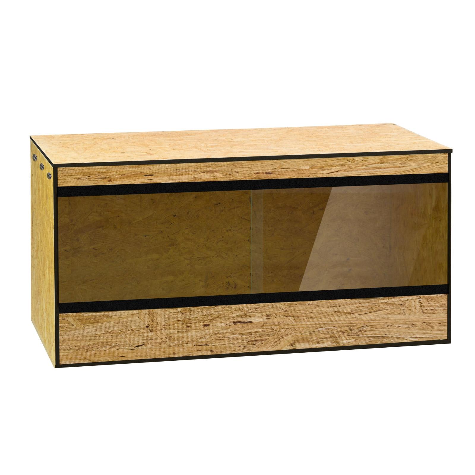 Dema Holz Terrarium Holzkäfig Reptilien Schlangen Holzterrarium 120 x 60 x 60 aus OSB 41223