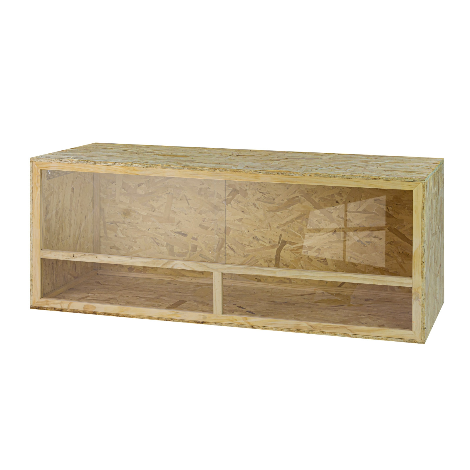 Dema Holz Terrarium Holzkäfig Reptilien Schlangen Holzterrarium 150 x 60 x 60 aus OSB 41601
