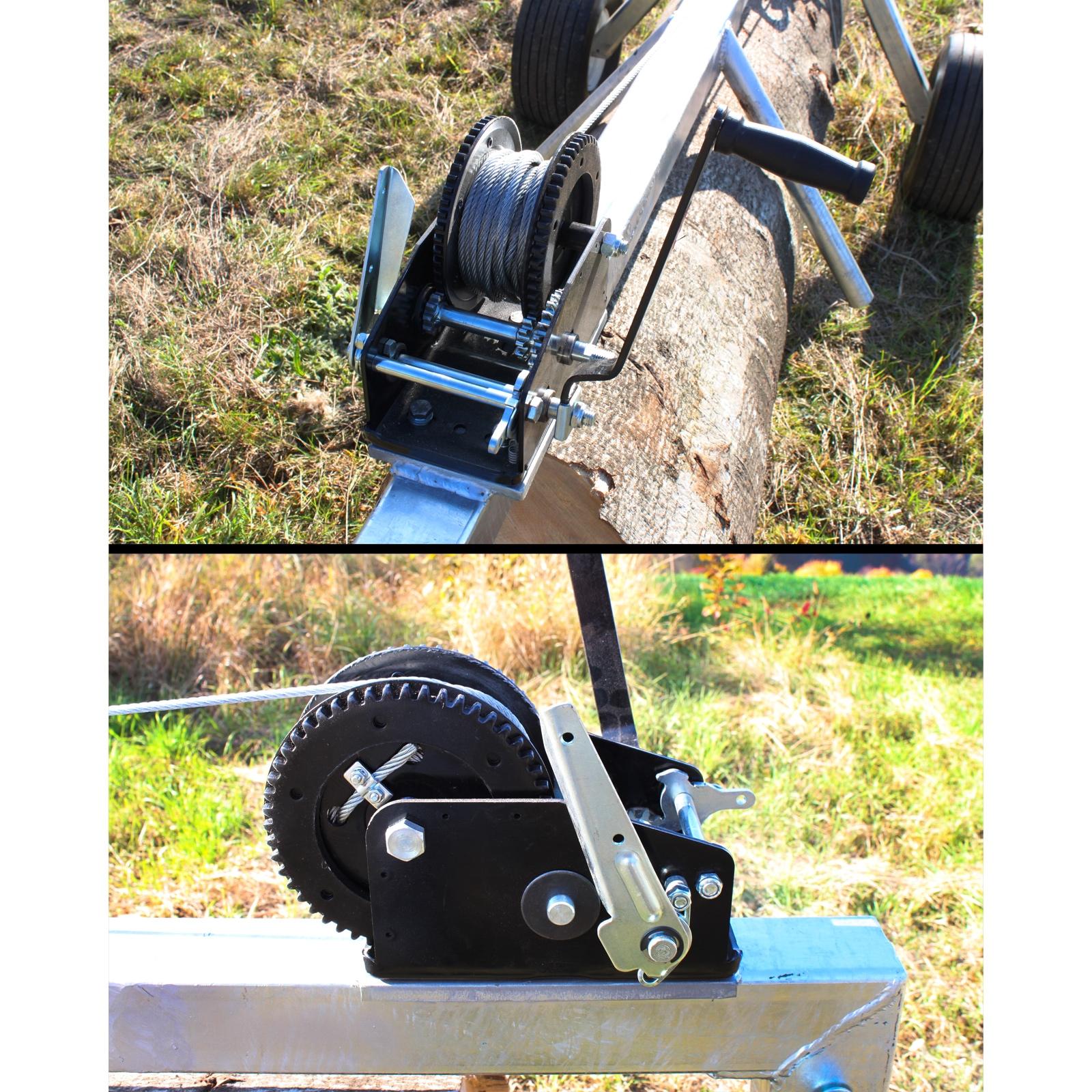 Dema Seilwinde für Artikel 67997 Stammholzwagen mit 2 Rädern / Tragkraft 700 Kg ZA67997