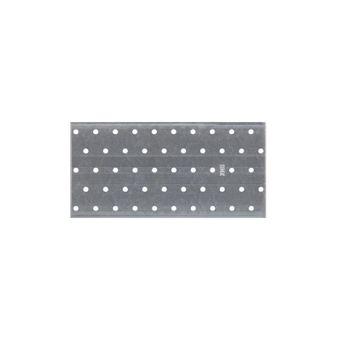 Lochplatte 100x200x2.0 mm Metallplatte Rispenband Lochwinkel Flachverbinder