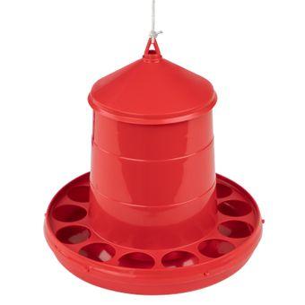 MenaVet Geflügelfutterautomat PVC Rot (Füllmengenauswahl) – Bild $_i