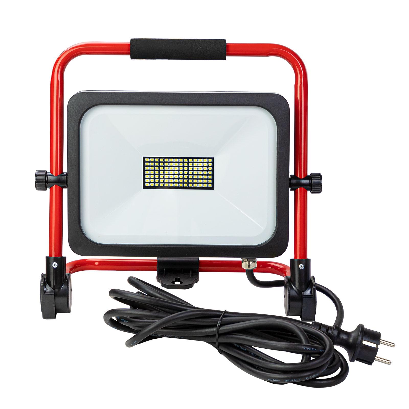 Dema LED-Strahler Slim 50W Tragegestell LED Arbeitsleuchte Baustellenlampe Strahler 90055