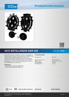 Güde Metallräder Gartentechnik Kombigeräte Benzin Anbauwerkzeug GMR 420 Satz – Bild $_i