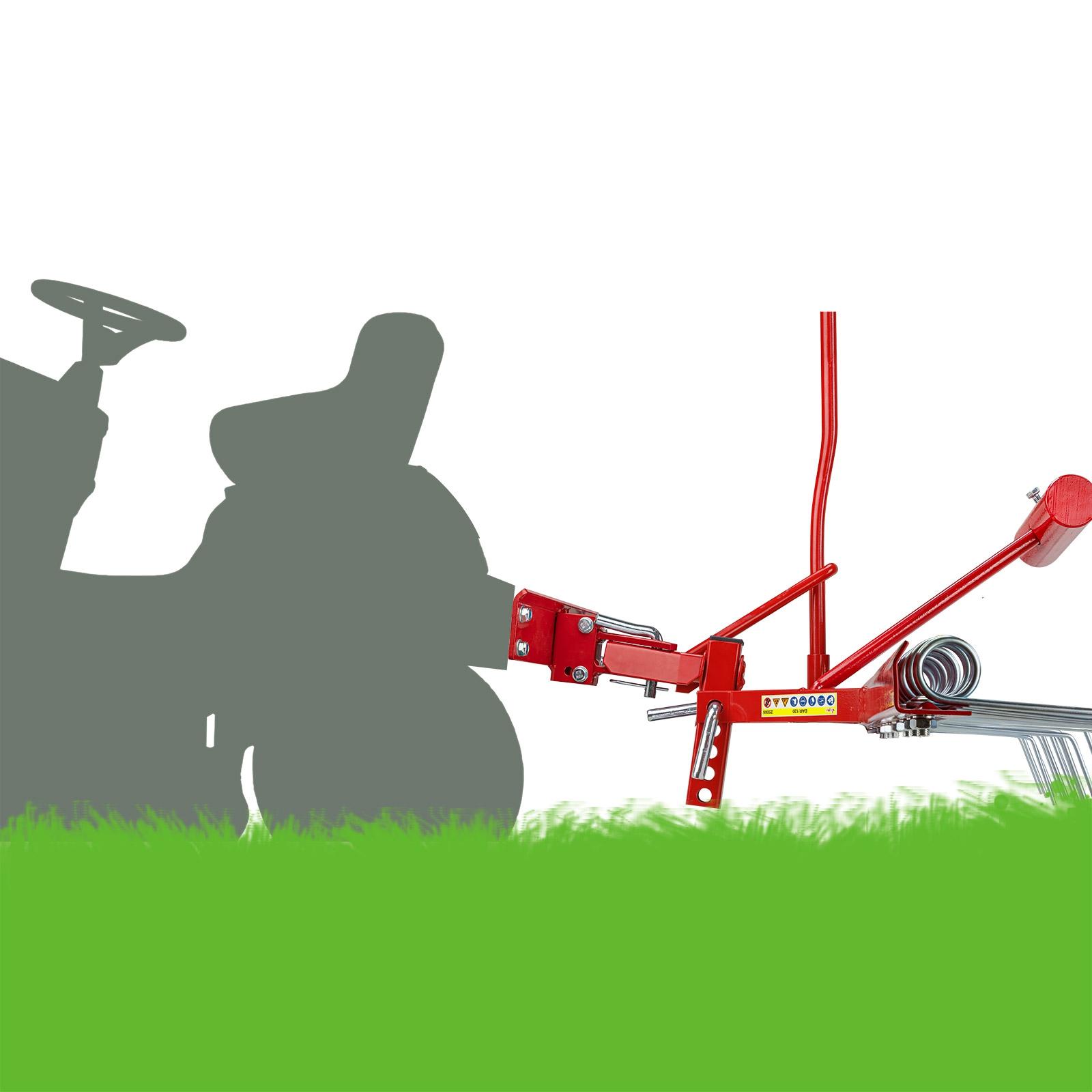 Dema Rasenstriegel Rasenkamm Entmooser Anbau für Traktor ATV 120 cm 25005