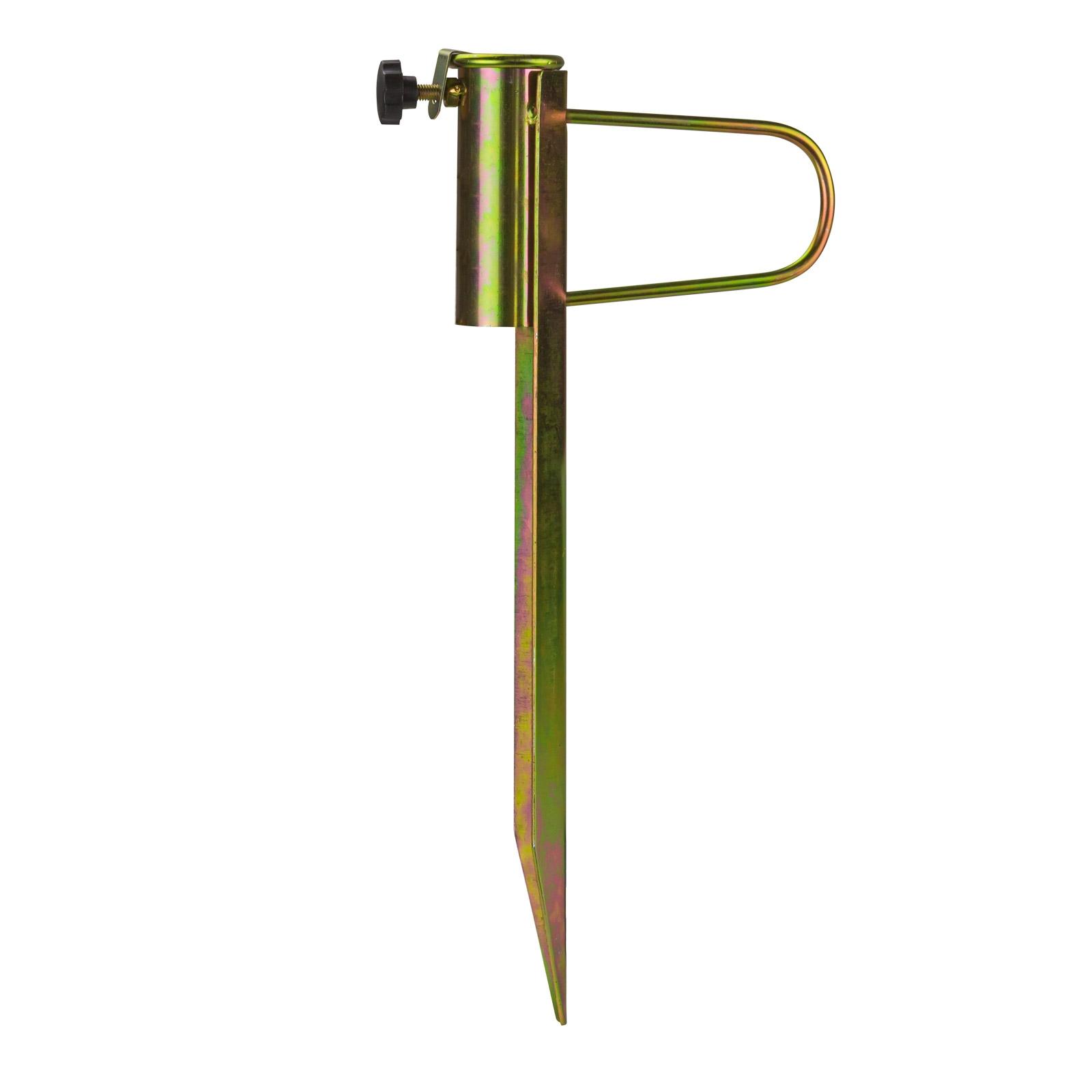 Dema Metall Schirmständer Strandschirmständer Sonnenschirmständer Erdspieß Fußbügel 41297