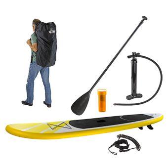 SUP Stand-Up-Paddle-Board / Surfboard,  305 x 71 cm, Gelb mit Finne & Zubehör – Bild $_i