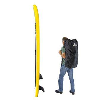 SUP Stand-Up-Paddle-Board / Surfboard, 305 x 81 cm, Gelb, bis 110kg, mit Zubehör – Bild $_i