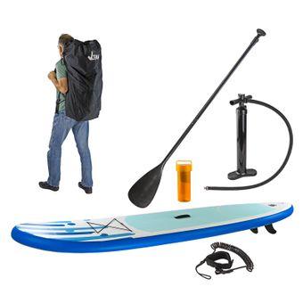 SUP Stand-Up-Paddle-Surfboard 305 x 81 cm, Blau, mit Finne und Zubehör – Bild $_i