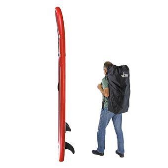 SUP Stand-Up-Paddle-Board / Surfboard Rot,  305 x 81 cm, bis 110kg, mit Zubehör – Bild $_i