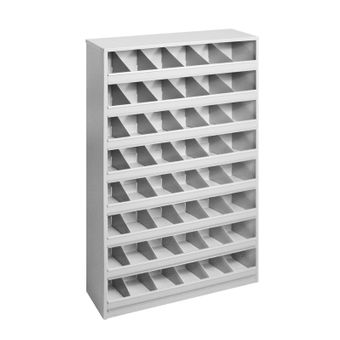 ADB Schüttenregal Metallregal Fächerregal 48 Fächer für Schrauben Bolzen RAL7035 – Bild $_i