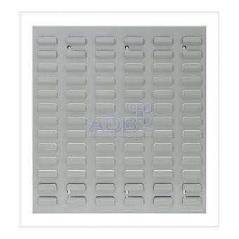 ADB Schlitzplatte,senkrecht, L456xB493mm; RAL 7035 – Bild $_i
