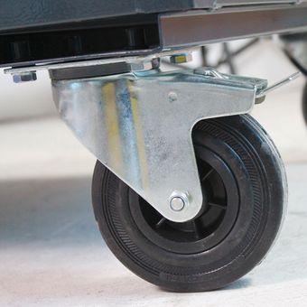 ADB Tischwagen Eko,1Tür,L1300xB600xH850mm,RAL7035/5012 – Bild $_i